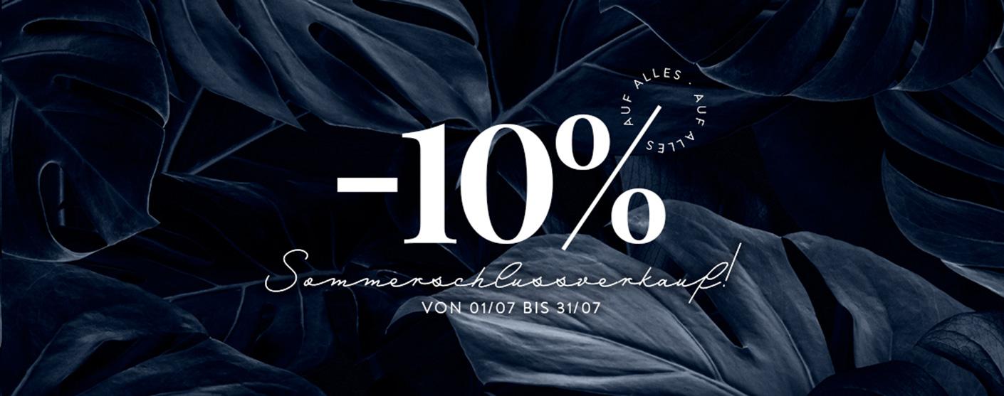 -10% Sommerschlussverkauf!