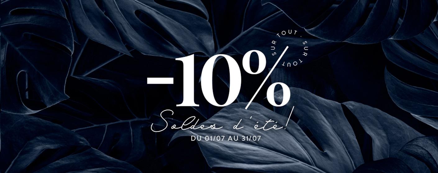 -10% Soldes d´éte!